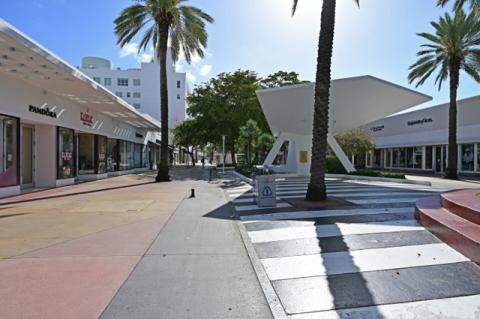 An empty shopping mall in Miami during the pandemic shutdown. The huge uncertainty caused by the pandemic is a critical factor in economic resilience, says Tufts professor Yannis Ioannides