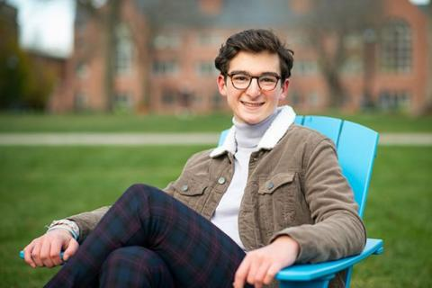 """I think it has been a hugely meaningful experience that has brought students closer to work they're passionate about in their home communities,"" said Alex Lein, A21. Photo: Alonso Nichols/Tufts University"